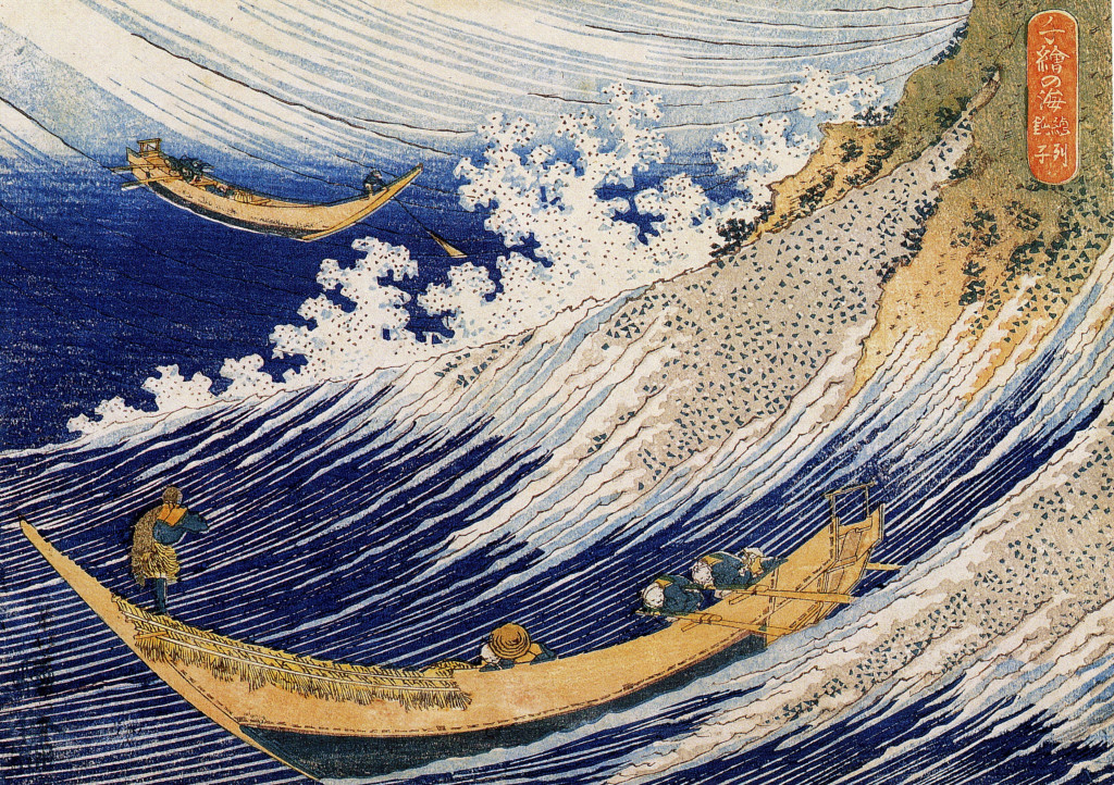 hokusai surfing the big wave