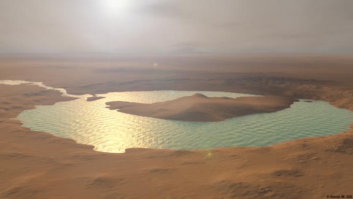 il cratere Gale oltre 3,5 miliardi di anni fa